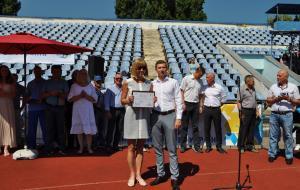Праздник спорта на харьковском стадионе «Динамо» в честь открытия Вторых Европейских игр