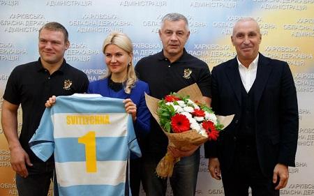 Губернатор Харьковщины поздравила РК Олимп с «золотым» спортивным сезоном