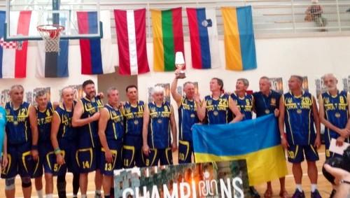 Чемпионы Европы среди ветеранов по баскетболу - харьковчане