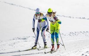 В лыжных гонках на ЕЮОФ выступили Алексей Жувага и Анастасия Макарина