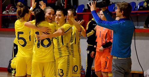 Матч Украина-Португалия на чемпионате Европы по футзалу среди женщин