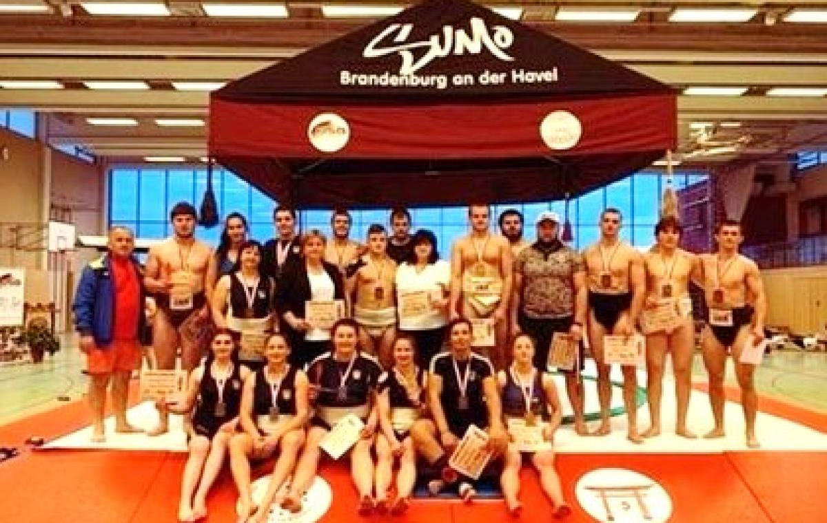 Четыре награды харьковских сумоистов на турнире в Германии