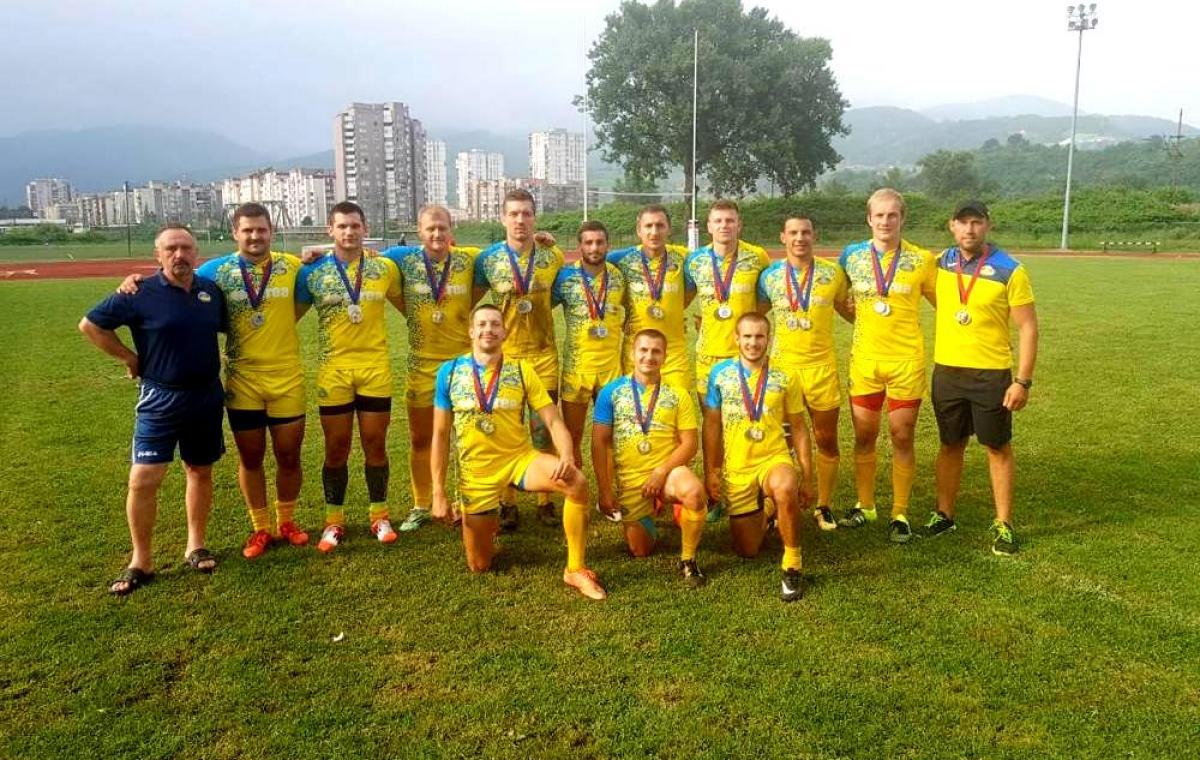 Харьковчане в составе сборной Украины стали серебряными призерами чемпионата Европы по регби-7