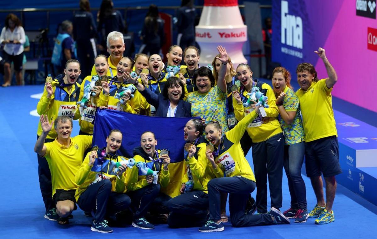 Сборная Украины по синхронному плаванию завоевала «золото» на чемпионате мира по водным видам спорта