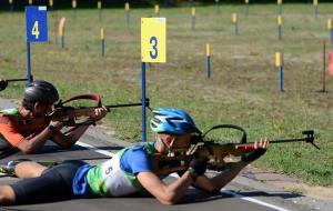 Победа Степана Кинаша на юношеском чемпионате Украины по биатлону