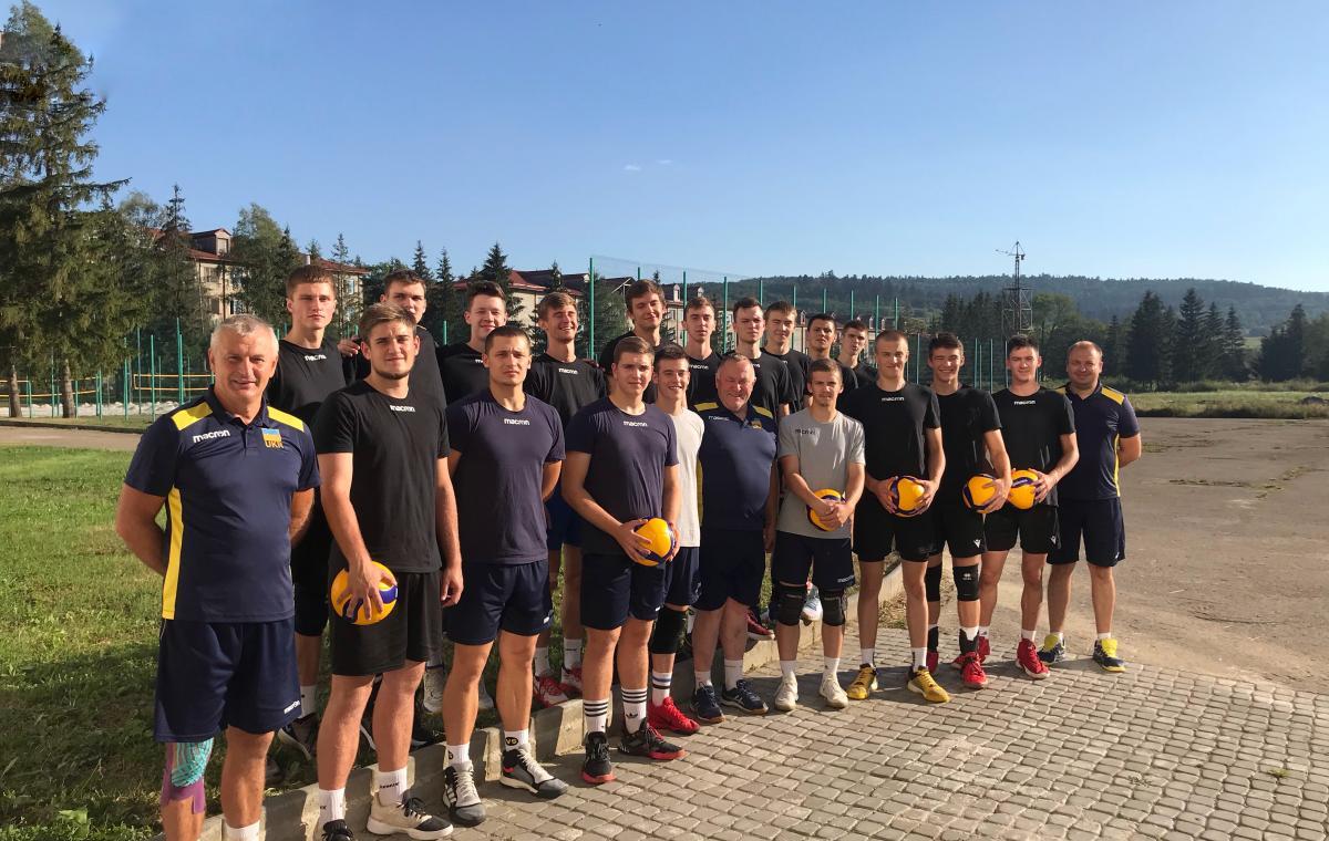 Под руководством харьковских тренеров сборная Украины U-20 начала подготовку к Евро-2020  Юниорская сборная Украины по волейболу