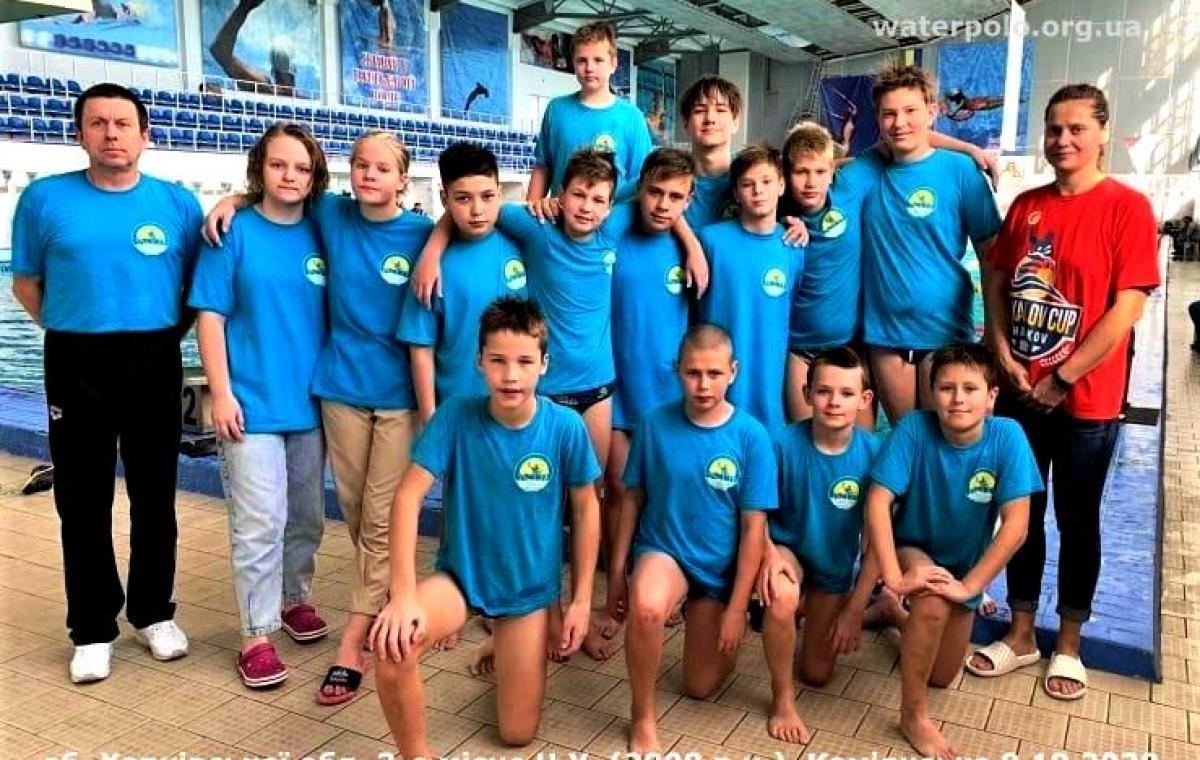Сборная Харьковской области 2008 года рождения стала бронзовым призером чемпионата Украины по водному поло