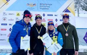 Степан Кинаш стал серебряным призером юниорского чемпионата Украины по биатлону