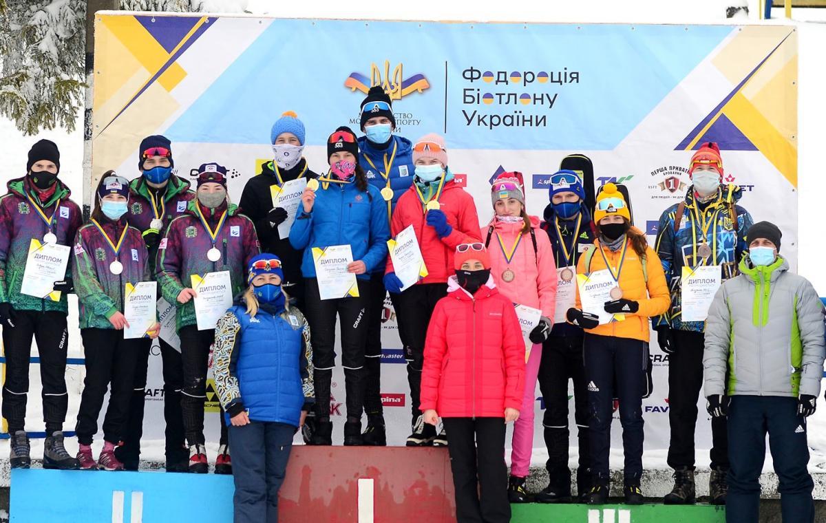 Сборная Харьковской области по биатлону завоевала серебро в эстафете