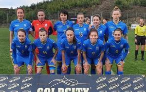 Ольга Овдийчук забила гол за сборную Украины в матче против Сербии