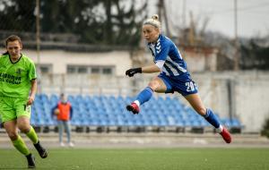 Футболистки «Жилстрой-1» одержали победу со счетом 8:0 и продолжают лидировать в чемпионате Украины