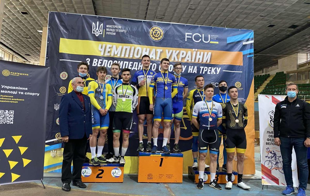 Харьковчане завоевали 20 медалей разного достоинства на чемпионате Украины по велоспорту на треке